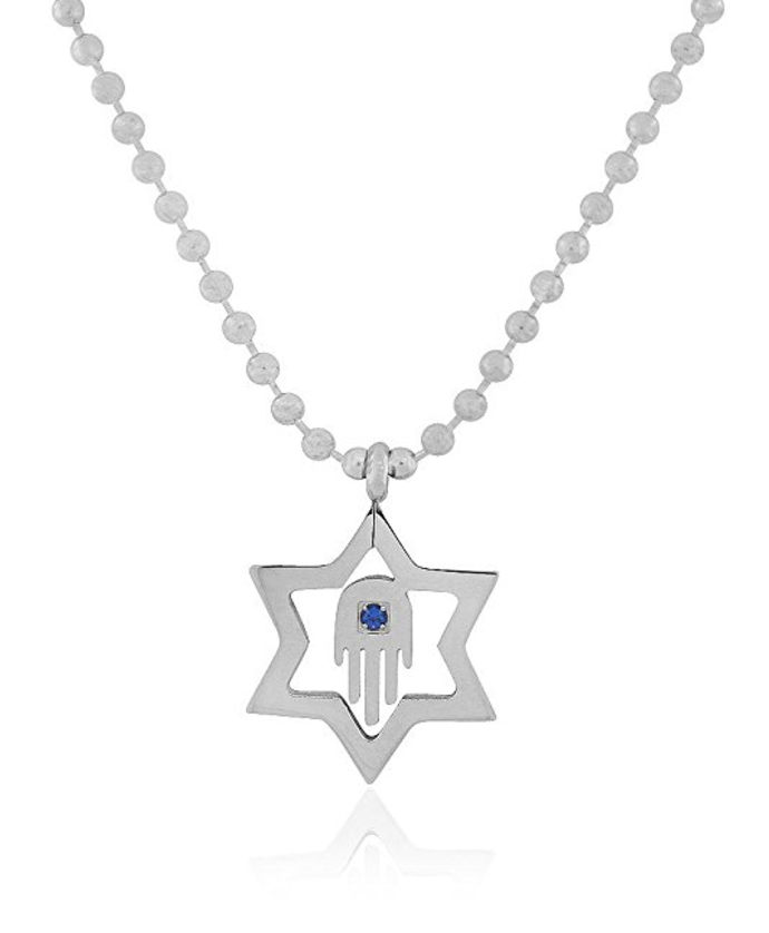 jewish star hamsa necklace