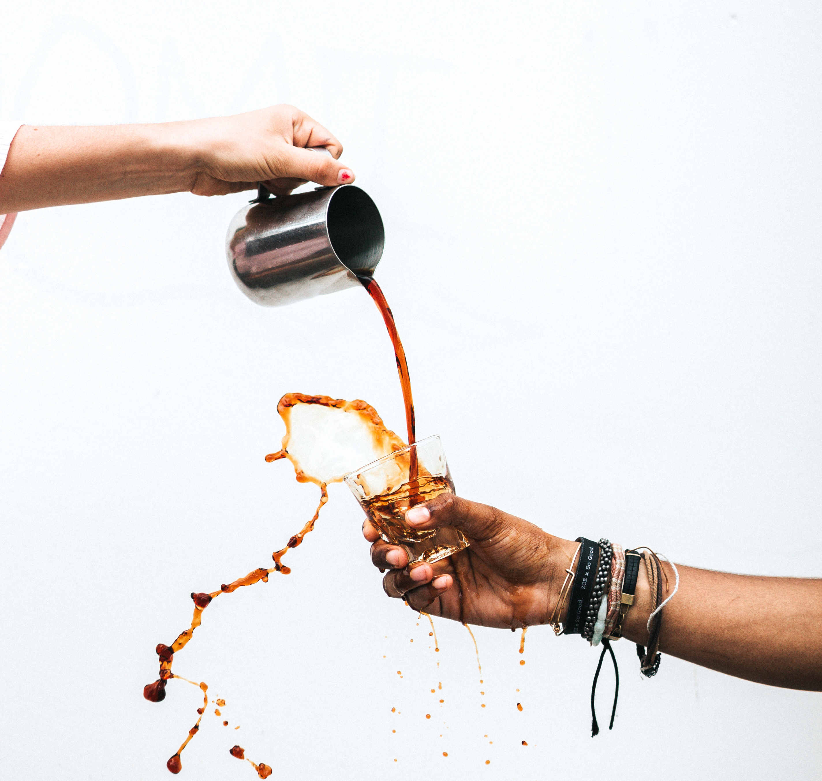 coffee spilling