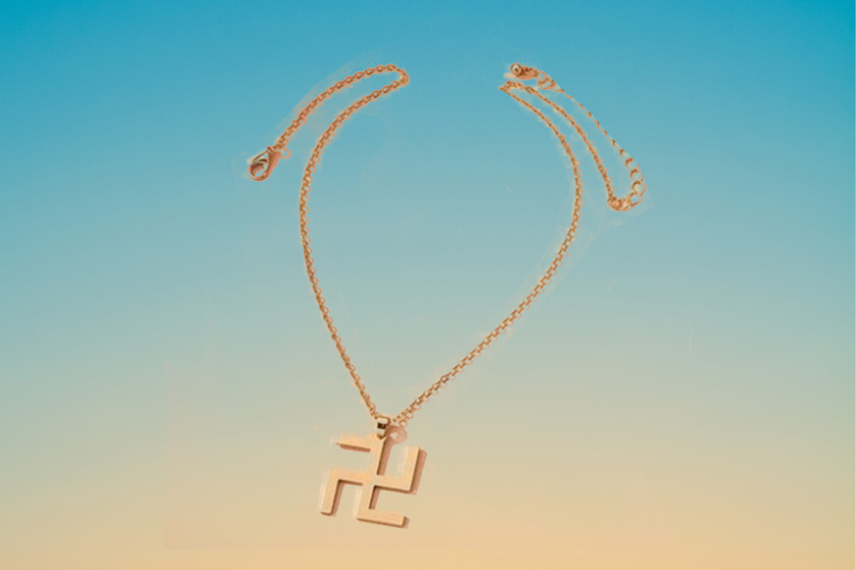 shein swastika necklace